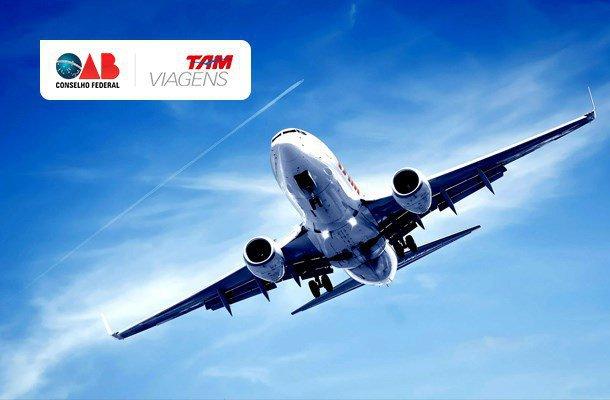 OAB e TAM: parceria garante desconto em pacotes de viagem (Foto: Arte - CFOAB)
